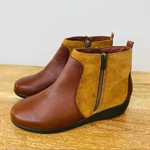 Ziera Leather Comfort Ankle Boots Size 39.5 / 8.5